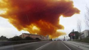 Toxic cloud in Spain